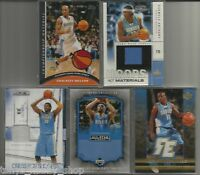 Denver Nuggets Game/Event Worn Used Jersey 5 Card Lot Basketball