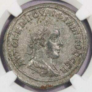 247-249 AD Roman Antioch BI Tetradrachm Philip II NGC AU B-2