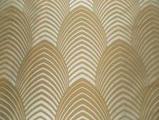 Harlequin Curtain Fabric DECO 2.2m Sable/Latte 100% Silk - Art Deco Design 220cm