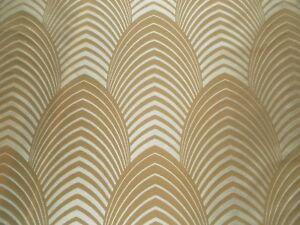 Harlequin Curtain Fabric DECO 3.25m Sable/Latte 100% Silk -Art Deco Design 325cm