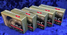 5 Maxell VHS-C HGX-Gold Camcorder Video Cassettes