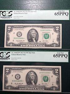 #2 2013 $2.00 FRN's B STARS PCGS 65Q