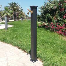 Fontana a colonna in acciaio e ghisa per esterno casa giardino + rubinetto 303B