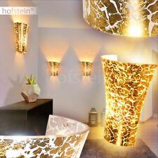 Flur Glas Wand Lampen goldfarben Licht Effekt Wohn Schlaf Zimmer Up Down Leuchte