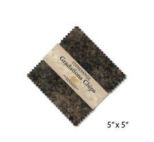 "Northcott Fabric Stonehenge Gradations Chips Slate (42) 5"" Squares"