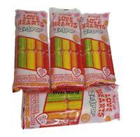 Swizzels Love Hearts Ice Pops 2 in 1 Pop Cherry Lime Lemon & Pineapple Pack 2/4