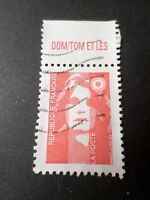 FRANCE 1993, timbre 2806, Marianne, BANDELETTE DOM/TOM les, oblitéré, VF STAMP