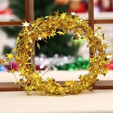 Christmas Tree Star Pine Garland Hanging Ornament Xmas Party Festival Decor Gift