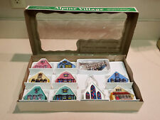 Vintage Alpine Village w/ Cottages, Cathedral, & Accessories w/ Original Box