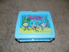 Vintage Snorks Teal Plastic Lunch Box No Thermos