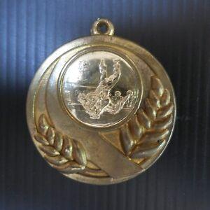 Médaille bronze métal doré judo sport collection design art martial N5821