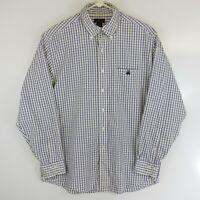 Brooks Brothers Mens Size L Button Down Long Sleeve Plaid Cotton Dress Shirt