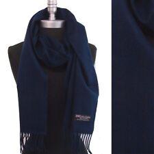 100% CASHMERE LONG SCARF PURE SOLID Scarves Scotland Warm Wool Men Women's Wrap