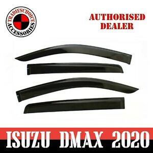 Weathershields Window Visors for ISUZU DMAX D-MAX 2021 Dual Cab 2020+ Luxury