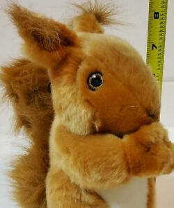 ADORABLE RED SQUIRREL PLUSH DOG TOY WITH SQUEAKER!