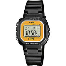Casio LA-20WH-9A Ladies Black & Gold Water Resistant Watch with Daily Alarm BNIB