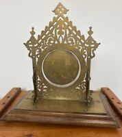RARE LARGE ANTIQUE EARLY 19TH C ORIENTAL GOTHIC PAGODA BRASS DINNER TABLE GONG