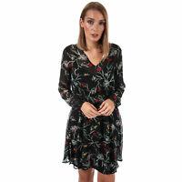 Womens Vero Moda Becca V-Neck Floral Dress In Black