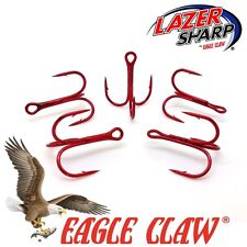 Treble Hooks Eagle Claw  934 Red Sizes 2 - 10 Tube Fly  Flying C  Spinner Lures