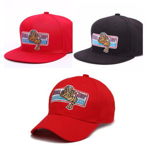 Red Great Bubba Gump Shrimp Hat Forrest Gump Costume Embroidered Snapback Cap