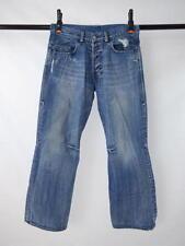 Vtg 90s DIESEL Distressed Blue Denim Button Fly Bell Bottom Flare Jeans 33 Waist
