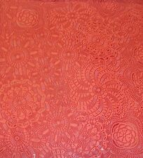 """Vinyl leather Poppy Sphere upholstery Embossed faux fabric by the yard 55"""" Wide"""