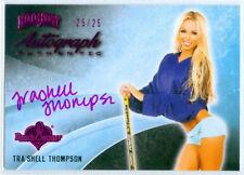 "TRA'SHELL THOMPSON ""PINK AUTOGRAPH CARD #25/25"" BENCHWARMER HOCKEY 2014"