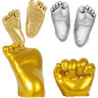 Baby Casting Kit 3D Handprint Footprint Hand Foot Plaster Cast Mould Gold Feet