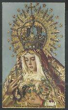 Holy card postale antique de la Virgen Macarena santino image pieuse estampa