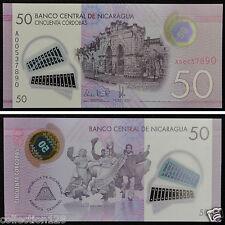 NICARAGUA Polymer Banknote 50 Cordobas 2015 UNC