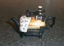 "Porcelain Sewing Machine Teapot Miniature ""Infusion"" - Boxed"