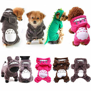 Pet Cat Dog Funny Dinosaur Totoro Costume Jacket Puppy Kitten Hoodie Clothing