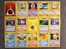 Pokemon TCG : 15 Pokemon Original Base SHADOWLESS Card lot 1999 - ABC