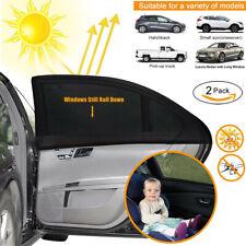 2Stück Universal Sonnenschutztuch Sonnenblende Auto Seitenscheibe Baby Schutz 02