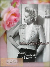 Vintage 40s Knitting Pattern Lady's 'Hilary' Beautifully Stitched Cardigan NOP&P