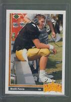 1991 UPPER DECK #13 BRETT FAVRE RC VIKINGS PACKERS ROOKIE CARD HALL OF FAME B