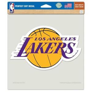 """Los Angeles Lakers 8""""x8"""" Perfect Cut Car Decal [NEW] NBA Car Auto Sticker Emblem"""
