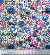 Soimoi Indian Cotton Fabric Rose Floral 58 Inches Wide Material By the Metre