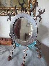 One of a Kind Brutalist Sculpture Vanity Mirror