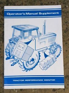 FORD TRACTOR PERFORMANCE MONITOR TRACTOR MANUAL BROCHURE SUPPLEMENT 90s HANDBOOK