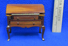 Dollhouse Miniatures Queen Anne Secretary Desk Cabriole Legs 4 Drawers Hinge Lid