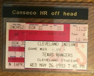 Jose Canseco mispays baseball off his head for a homerun ticket 5/26/1993 HR