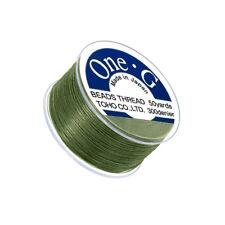 Toho One-G 0.2mm Nylon Japanese Beading Thread Green 50yd Spool (Q108/1)
