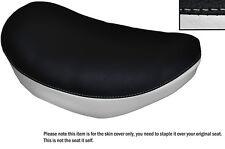 BLACK & WHITE CUSTOM FITS SUZUKI LS 650 SAVAGE FRONT LEATHER SEAT COVER