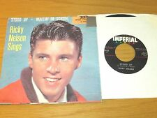 """RICKY NELSON PICTURE SLEEVE/45 RPM - IMPERIAL 5483 - """"STOOD UP"""""""