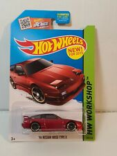 2015 Hot Wheels '96 Nissan 180SX Type X #205 (Red)