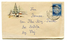 Romania 1959 Winter landscape with deer,nice & rare liliput stationery cover