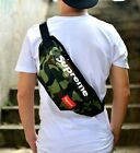 Supreme Waist Pack Black Fanny Hand Bag Free Shipping Red Box Logo Unisex Teen