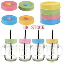 4 Leakproof Caps Lids w/Silicone Seal O Rings for Mason Jars Bottle 70mm/86mm
