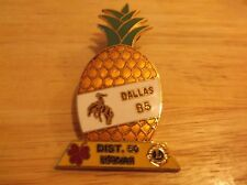 CR31) 1985 Hawaii District 50 Pineapple Dallas Cowboy Lions Club Pin
